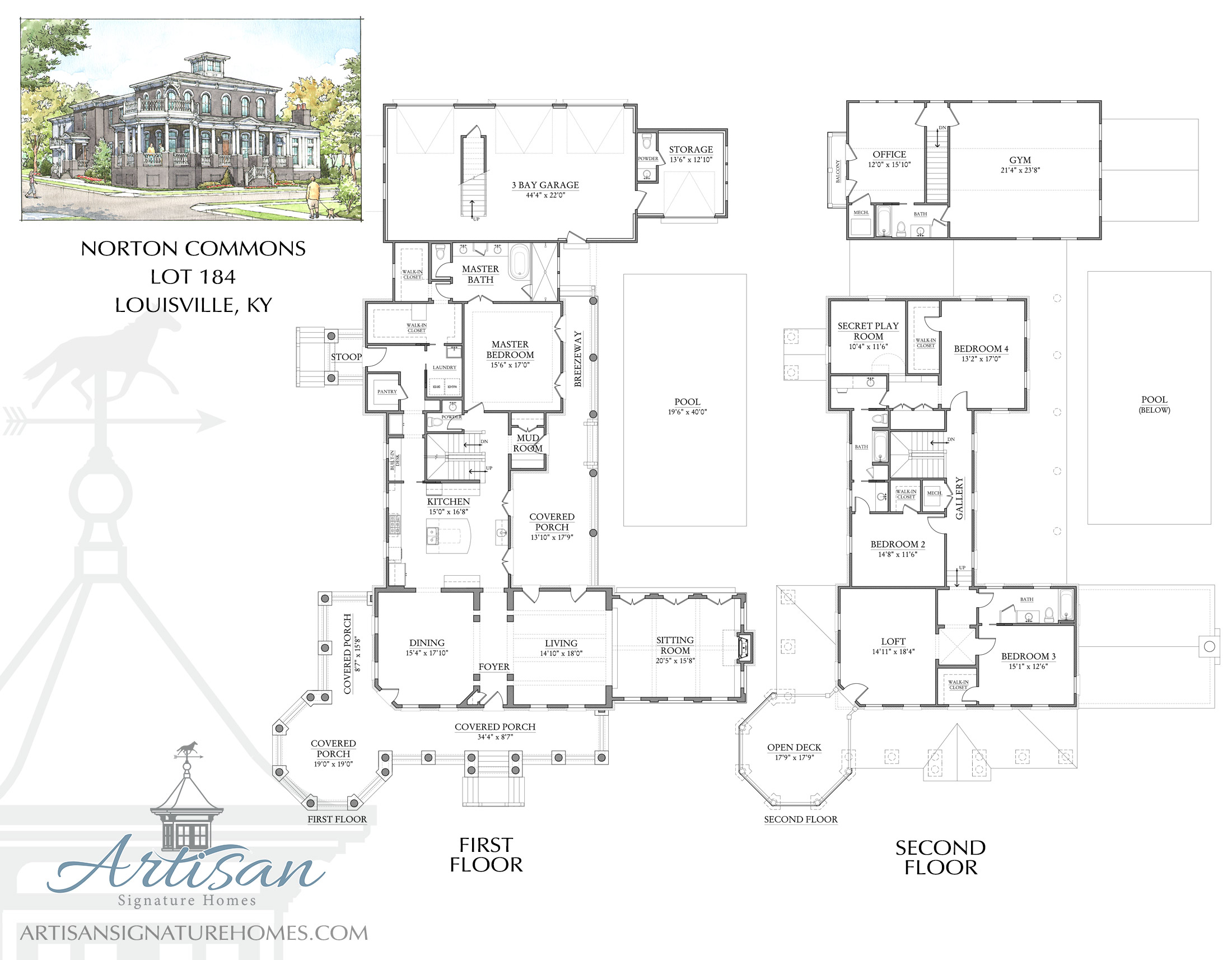 Artisan signature homes custom home builder louisville for Home builders floor plans