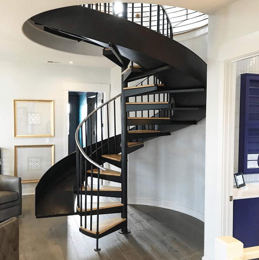 circular-staircase-with-slide-artisan-signature-homes