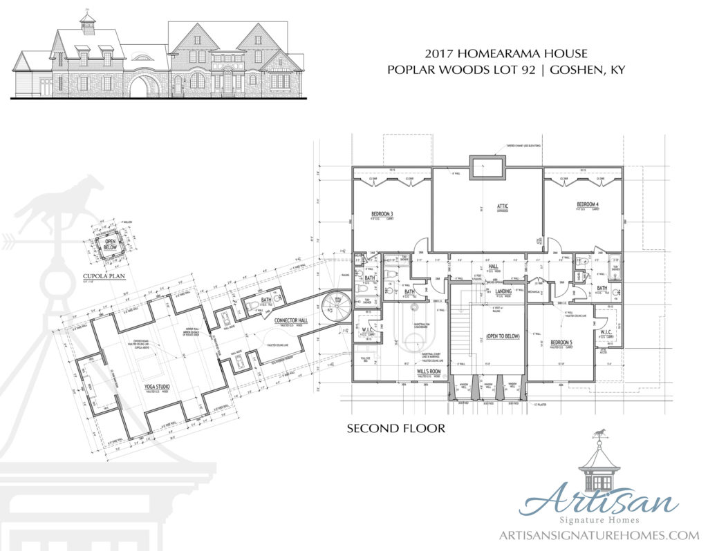 Artisan Signature Homes Custom Home Builder Louisville Cupola Schematic Preview The Floor Plans